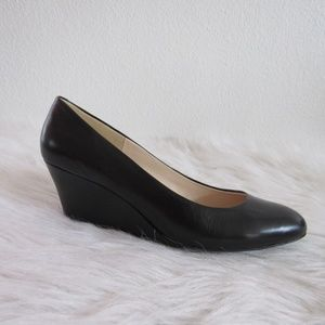 Nine West Wedge Shoes Size 7M Maybell Black Casual
